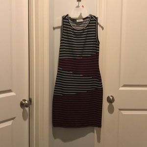 Calvin Klein red and white striped dress
